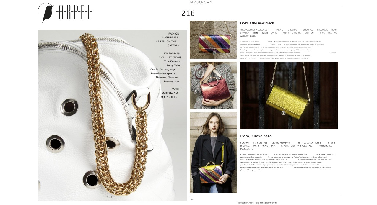 Mai 2018 : Arpel Magazine : Gold is the new black